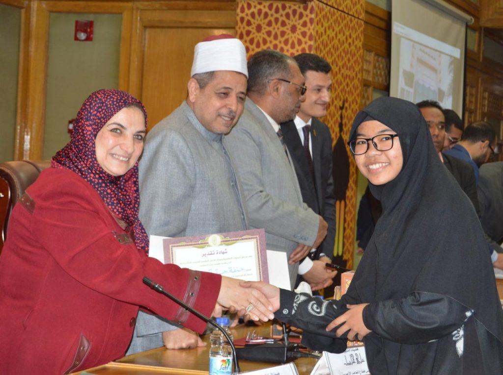 Hannafa Haqqiya Alumni Santri eLKISI Berhasil Meraih Juara Musabaqoh Online di Universitas Al Azhar Kairo Mesir
