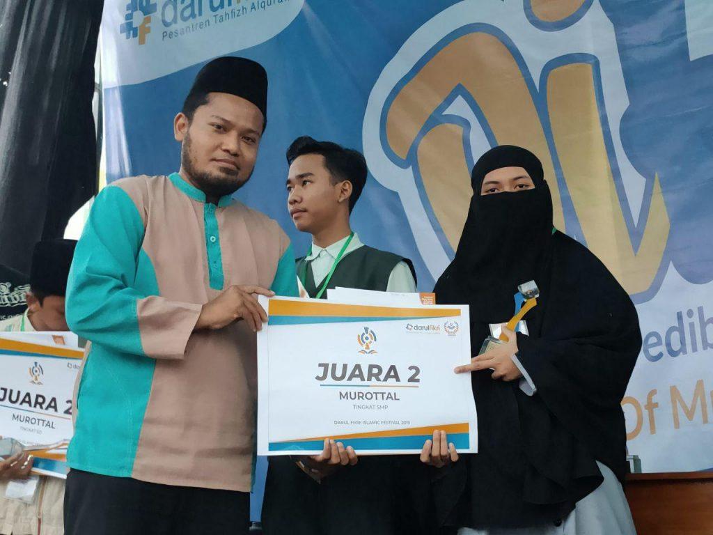 Santri SMP eLKISI Meraih Juara 2 Lomba Murottal Al-Qur'an